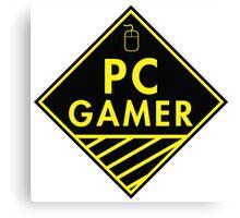 Pc Gaming (yellow) Canvas Print