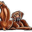 Two Rhodesian Ridgebacks by offleashart