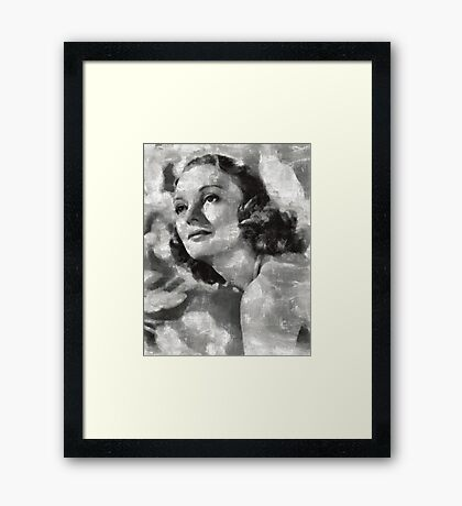 Andrea Leeds Hollywood Actress Framed Print