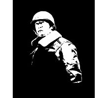 General George Patton - Black and White Photographic Print