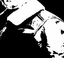 General George Patton - Black and White Sticker