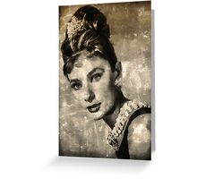 Audrey Hepburn by Mary Bassett Greeting Card