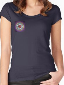 Luther's Rose - Purple Women's Fitted Scoop T-Shirt