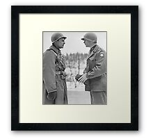 Generals Ridgway and Gavin - Battle of the Bulge Framed Print