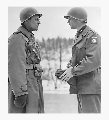 Generals Ridgway and Gavin - Battle of the Bulge Photographic Print