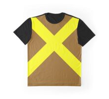 Yellow Cross Graphic T-Shirt