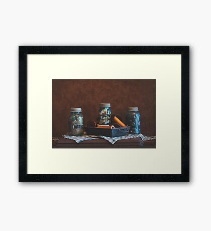 Bobbins and Buttons Framed Print