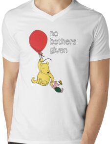 Winnie the Pooh + Piglet - No Bothers Given Mens V-Neck T-Shirt