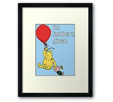 Winnie the Pooh + Piglet - No Bothers Given Framed Print