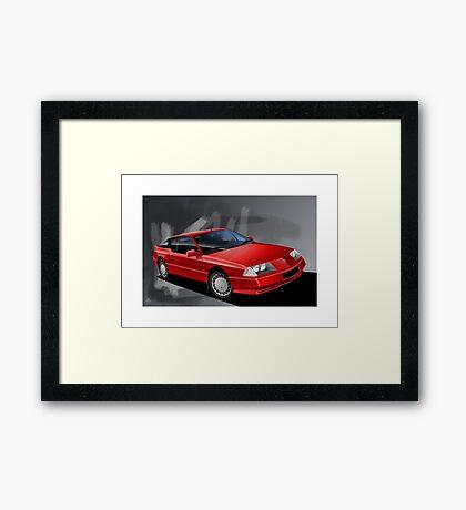Poster artwork - Renault Alpine GTA Framed Print