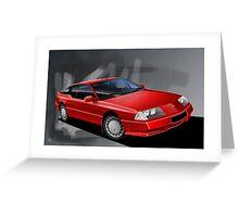 Poster artwork - Renault Alpine GTA Greeting Card