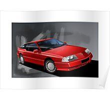 Poster artwork - Renault Alpine GTA Poster