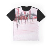 Cozy cabin in the snow Graphic T-Shirt