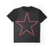 Bordered Black Star Graphic T-Shirt