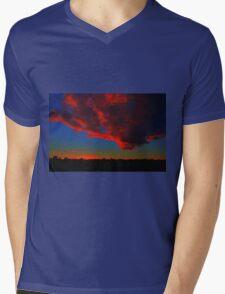 Red Cloud at Sunset Mens V-Neck T-Shirt