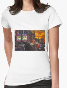 Sun Down in Music City Womens Fitted T-Shirt