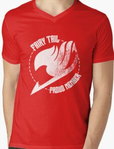 Fairy Tail - Proud Member Mens V-Neck T-Shirt