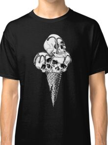 Ice Cream cone with a Skulls Classic T-Shirt