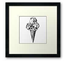 Ice Cream cone with a Skulls Framed Print