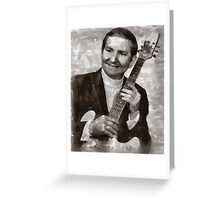Willie Nelson Country Singer Greeting Card