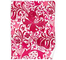 William Morris Iris and Lily, Fuchsia Pink Poster
