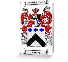 Blizzard Coat of Arms Greeting Card