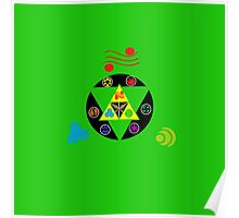 Zelda Triforce green Poster