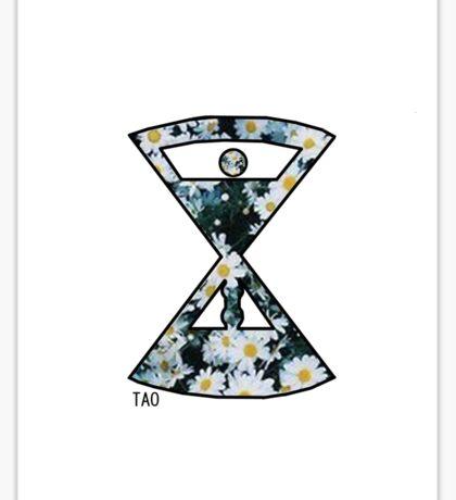 Tao Time - Flower Logo Sticker