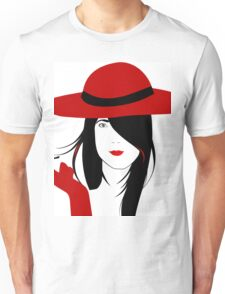 A woman with a cigarette Unisex T-Shirt