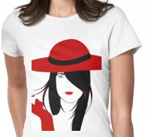 A woman with a cigarette Womens Fitted T-Shirt