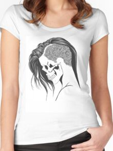 women skull  Women's Fitted Scoop T-Shirt