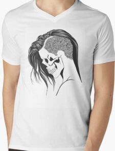 women skull  Mens V-Neck T-Shirt