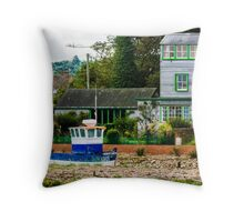 Harbour Master House - British Coast And Beach  Throw Pillow
