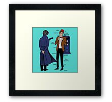 doctor and deteective Framed Print