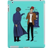 doctor and deteective iPad Case/Skin