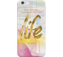 What matters  iPhone Case/Skin