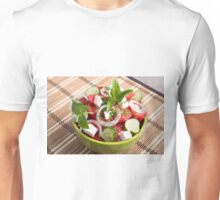 Green bowl with tasty and wholesome vegetarian meal Unisex T-Shirt