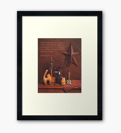 Proverbs 3:5 Toy Cats Framed Print