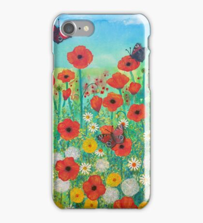 Peacocks and Poppies iPhone Case/Skin