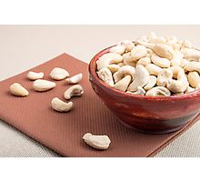 Raw cashew nuts for vegetarian food closeup Photographic Print