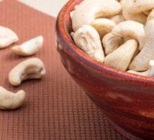 Raw cashew nuts for vegetarian food closeup Sticker