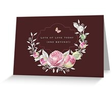 Wedding - Lots of Love Today Greeting Card