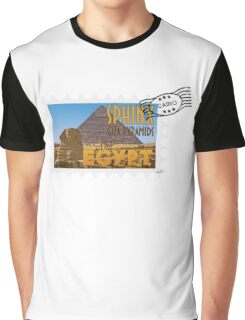 Old tourism postcard stamp - Visit Egypt Graphic T-Shirt