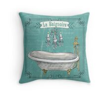 La Toilette Spa 1 Throw Pillow