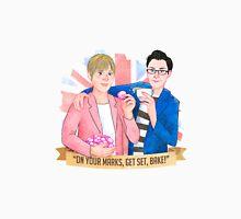 """Mel & Sue. """"On your mark, Get Set, BAKE!"""" 2016 Unisex T-Shirt"""