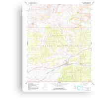USGS TOPO Map Arizona AZ Peach Springs 312810 1967 24000 Metal Print
