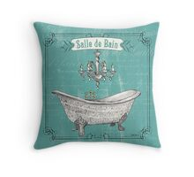 La Toilette Spa 2 Throw Pillow
