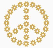 Peace flowers One Piece - Short Sleeve