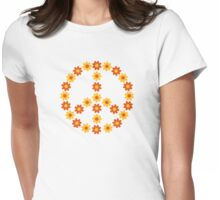 Peace flower bloom Womens Fitted T-Shirt