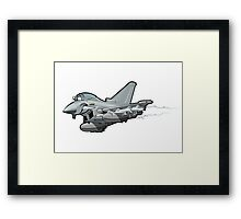 Cartoon Fighter Plane Framed Print